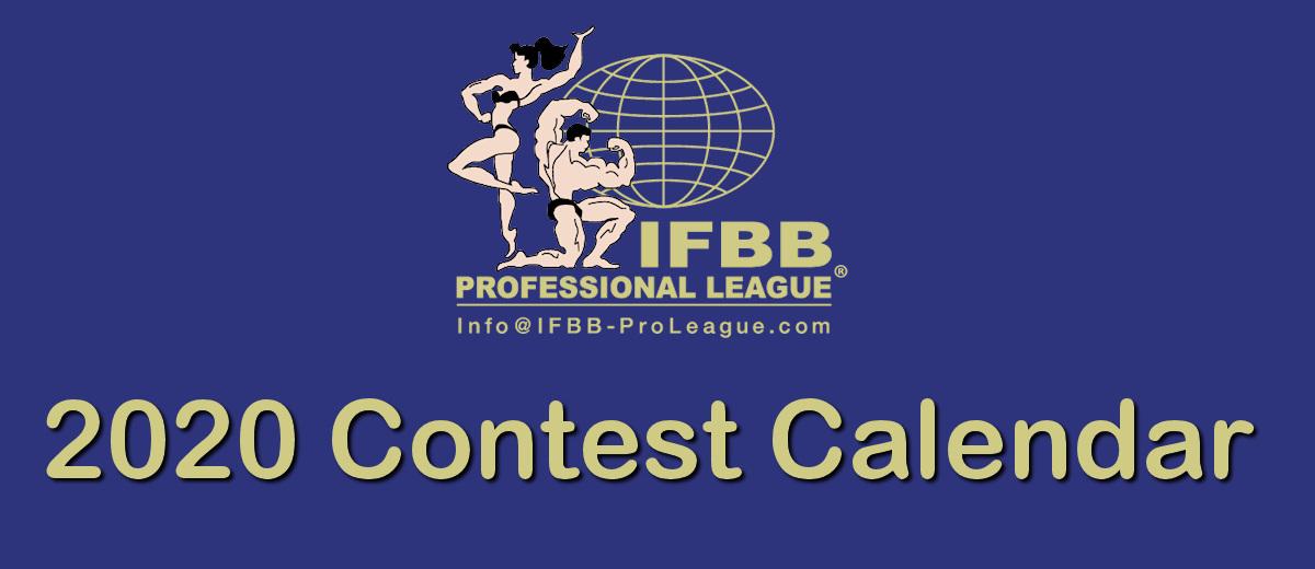 2020 Contest Calendar | IFBB PRO