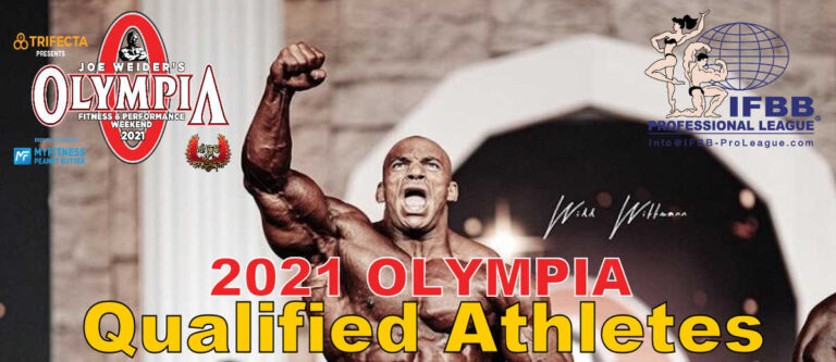 2021 Olympia Qualified Athletes